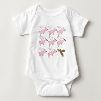 If pigs could fly baby bodysuit