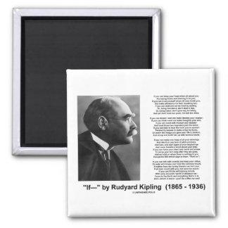 """If— "" Poem By Rudyard Kipling 2 Inch Square Magnet"
