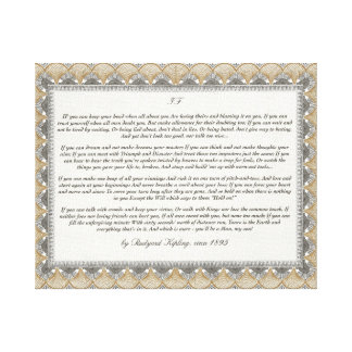 If Poem by Rudyard Kipling Canvas Print