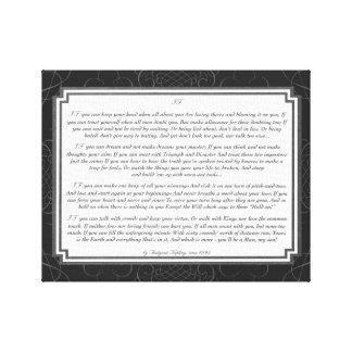 If Poem by Rudyard Kipling Gallery Wrapped Canvas