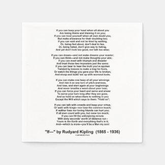 If Poem By Rudyard Kipling (Inspirational Poem) Paper Napkin