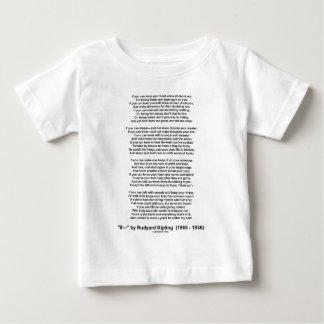 If Poem By Rudyard Kipling (Inspirational Poem) T Shirts