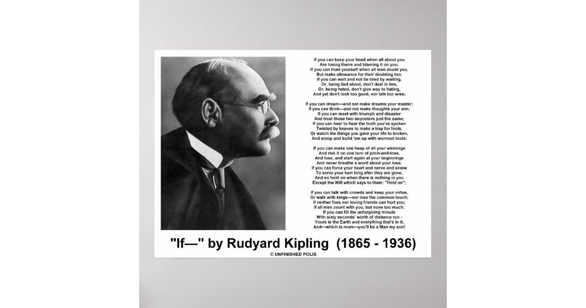 If Poem By Rudyard Kipling Kipling Picture Poster