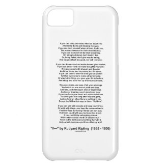 If- Poem by Rudyard Kipling (No Kipling Picture) Cover For iPhone 5C