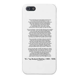 """If"" Poem By Rudyard Kipling (No Kipling Picture) Cover For iPhone SE/5/5s"