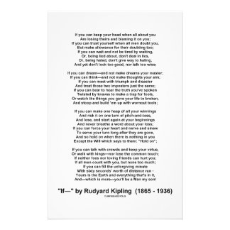If- Poem by Rudyard Kipling (No Kipling Picture) Stationery
