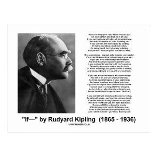 """""""If— """" Poem By Rudyard Kipling Postcard"""