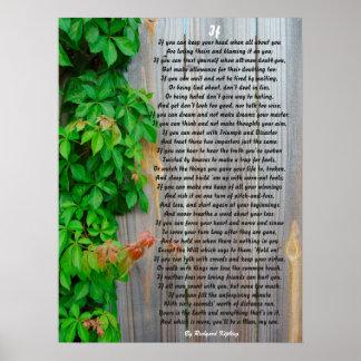 IF, Poem by Rudyard Kipling poster