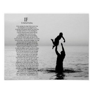 If Poem by Rudyard Kipling Poster