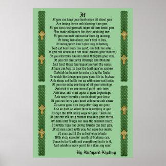 """""""IF""""  prose by Rudyard Kipling Poster"""