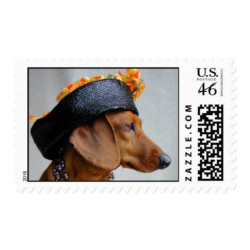 if queen elizabeth were a dachshund postage stamp