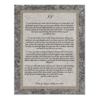 IF Quote by Rudyard Kipling 1895 50 Shades of Grey Poster