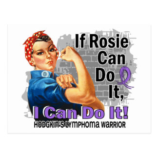 If Rosie Can Do It Hodgkin's Lymphoma Warrior Postcard