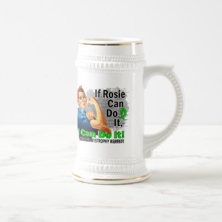 If Rosie Can Do It Muscular Dystrophy Warrior 18 Oz Beer Stein