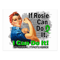 If Rosie Can Do It Non-Hodgkin's Lymphoma Warrior Postcard