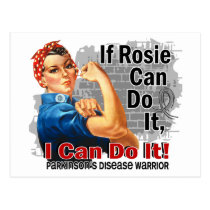 If Rosie Can Do It Parkinson's Disease Warrior Postcard