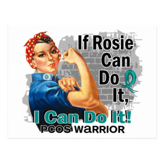 If Rosie Can Do It PCOS Warrior Postcard