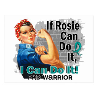 If Rosie Can Do It PKD Warrior Postcard