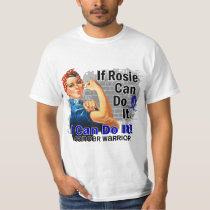If Rosie Can Do It Rectal Cancer Warrior T-Shirt