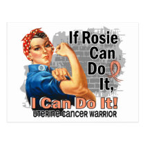 If Rosie Can Do It Uterine Cancer Warrior Postcard