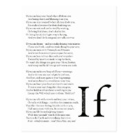 photo regarding If by Rudyard Kipling Printable named If Poem Through Rudyard Kipling Items upon Zazzle