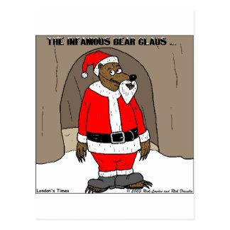 If Santa Clause The Bear Fun Christmas Gifts Tees Postcard