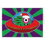 Hand shaped If Santa was an alien Christmas Card
