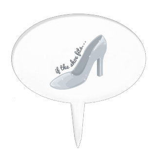 If Shoe Fits Cake Toppers