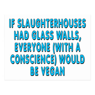 If slaughterhouses had glass walls, everyone... postcard