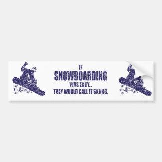 If-Snow-Boarding-was-EASY Car Bumper Sticker