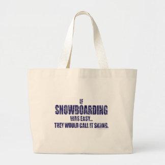 If-Snow-Boarding-was-EASY Jumbo Tote Bag