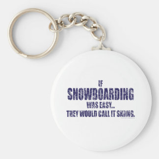 If-Snow-Boarding-was-EASY Keychain