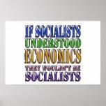 If socialists understood economics... posters