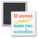 If stress Burned 2 Inch Square Magnet