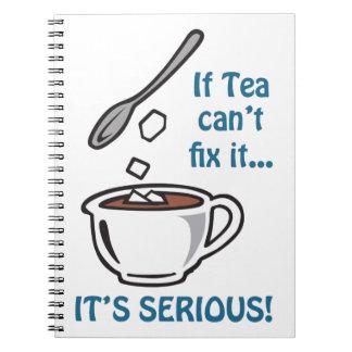 IF TEA CANT FIX IT SPIRAL NOTEBOOK