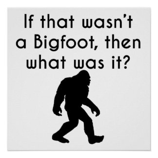 If That Wasn't Bigfoot Poster