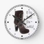 If the boot fits ~ Cackle! Wall Clocks