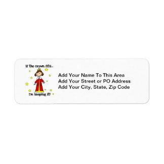 If the Crown Fits Return Address Label