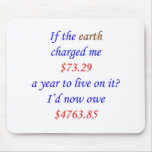 If the earth charged me ... 65 mouse pads