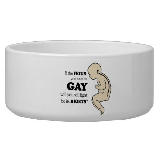 If the fetus you save is gay dog food bowls
