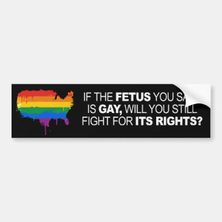 IF THE FETUS YOU SAVE IS GAY -.png Bumper Stickers