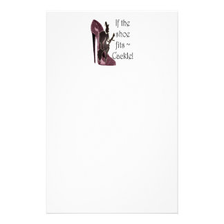 If the shoe fits ~ Cackle! Funny Sayings Gifts Stationery
