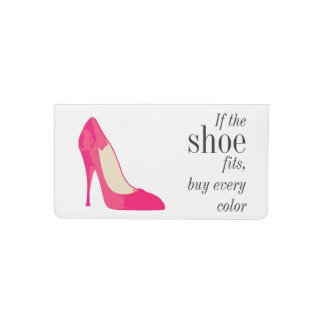 If the shoe fits checkbook cover