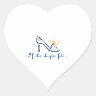 IF THE SLIPPER FITS... HEART STICKER