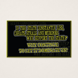 IF THE STATE LIES? Communication card