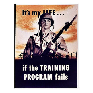 If The Training Program Fails Postcard