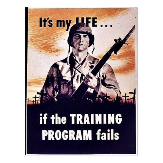 If The Training Program Fails Postcard