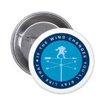 If the wind changes you'll stay like that (Blue) Pinback Button