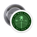 If the wind changes you'll stay like that pinback button