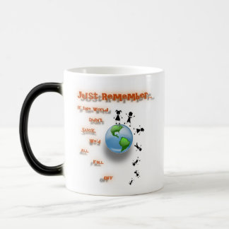 If the world didn't suck 11 oz magic heat Color-Changing coffee mug